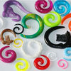 wholesale piercing body jewery New color new style uv ear expander gauges spiral Acrylic ear taper