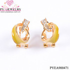 Latest enamel rhinestone earring mountings-PYEA900471