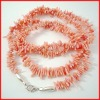 long pink chips coral jewelry