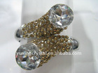 Vintage/antique wide crystal bangle