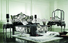 latest white antique bed kj-a1001#