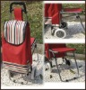 folding shopping trolley bag with chair