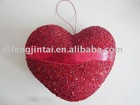 Handmade heart red acrylic hanging decoration