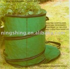 Garden bag folds down for easy PE fabric