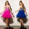 sexy bead organza short prom dresses 2012