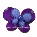 butterfly clothing flower fabric stick