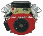horizontal / vertical shaft type 14/17/19HP air cooled 2 cylinder diesel engine