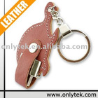 With keychain Leather USB Flash Driver