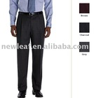 Men's Pleat-Front Wool Flannel Trouser,men's dress pant. men's pant