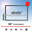 infrared dual points touch screen