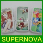 Customized phone case for galaxy s3 --white case with sublimation aluminum plates