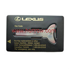 High quality Lexus Emergency key shell&car key blank&blank car key