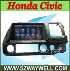 Touch Screen 8 inch Car gps With Bluetooth /Radio /IP OD /DVD player for Honda Civic