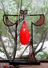 L102-80.16Wooden Frame Chinese Chi-pao Floor Lamp