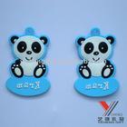 panda design rubber keychain