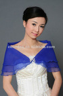 Crazy Sale Elgeant Designer Royal Bule Shrug for Bride Bridesmaid