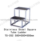 304 or 316L Stainless Steel Square Tube Ladder