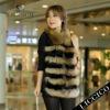 2012 women raccoon dog fur fur vest rabbit fur genuine Sheep Leather Waistcoat #1206-B-1