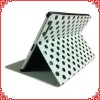 Stylish Wave Point Design Leather Stand Cover for iPad 2