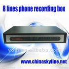 HOT / 8 lines phone voice recording system ,telephone recorder