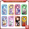 luxury crystal hard case for iphone4, custom print metal case for iphone