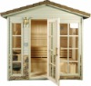 popular and beautiful traditional outdoor sauna room