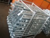 Galvanized stanchion with base plate
