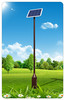 Excellent fashion design 4m intergrated led solar garden light
