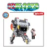 intelligence building block of cartoon character for 2012 promational items