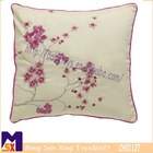 graceful plum blossom soft home decorate embroidery cushion