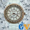 Gold Bling Crystal Silicone Watches for Girls and Ladies