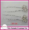 elegant rhinestone crystal hair pin