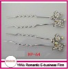 elegant rhinestone crystal hair pin