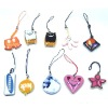 PVC phone hanging accessory,colorful pendant,clothes accessory