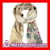 100% Silk Floral Printed Scarves Cheap