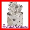 Cheap Silver Plated European Beads Metal Large Hole Findings