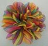 rainbow chiffon flower