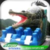 New design hot crocodile inflatable slide