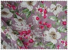 China import linen fabric printed with flower