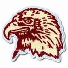 Embroidered eagle chenille patch