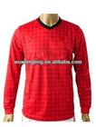 Thai quality Man U Long sleeve soccer jersey football shirt 2012-2013, customer made uniform