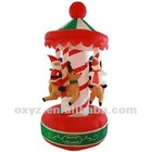 christmas item inflatable merry go round