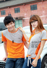 2013 latest summer couple t-shirt color combination t shirt