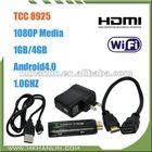 Cheapest google android tv stick IPTV STB set top box android HDMI WIFI dvb-t vga box