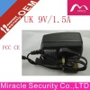 !!! Hot Selling UK Plug wall mount power adapter 9v 1.5a for led
