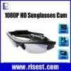 Unisex 5MP Sensor 1080P Glasses Camera Supports 32GB Memory Card