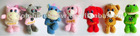 plush animal toys keychain