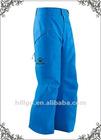 Men's heat-insulation cargo pocket water repellent blue ski pants
