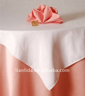 100% polyester satin wedding table cloth