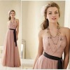 2013 latest design strapless chiffon Bridesmaid Dress WLE205